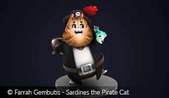 Farrah Gembutis Sardines the Pirate Cat